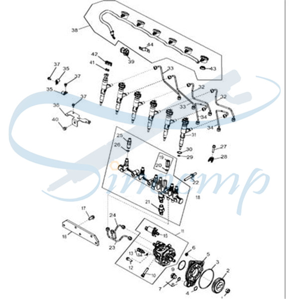 095000-8940 RE543266 Common Rail Injector